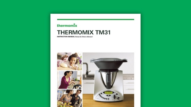 Thermomix TM31 Instruction Manual